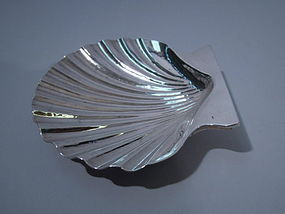 Buccellati Italian Sterling Silver Scallop Shell Bowl