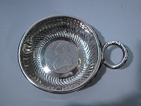 French Restauration Silver Wine Taster Tastevin C 1820
