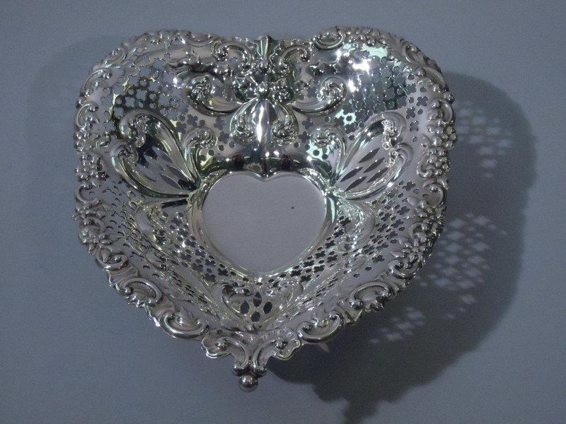 Gorham American Sterling Silver Heart Bowl 1948