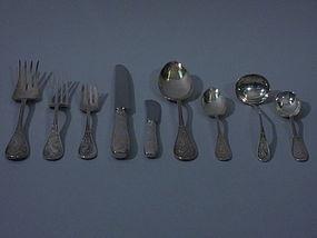 Tiffany Audubon Sterling Silver Flatware Set C 1960