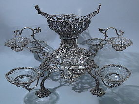 English London Sterling Silver Epergne George III 1765