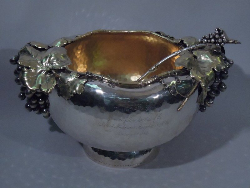 Gorham Sterling Silver Punch Bowl w/ Ladle 1881
