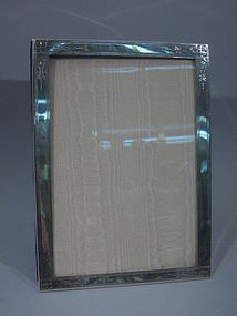 Antique American Sterling Silver Picture Frame C 1890