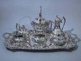 Kirk American Sterling Silver Tea Coffee Set C 1925