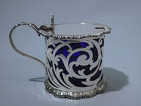 Edwardian English London Sterling Silver Mustard Pot