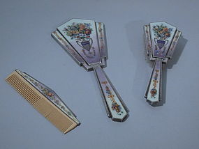 Austrian Art Deco 3-Piece Vanity Set C 1930