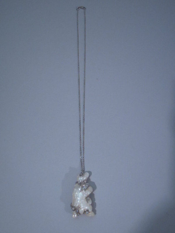 Baroque Pearl Pendant in Form of Bear C 1950