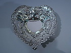 Gorham American Sterling Silver Heart Bowl C 1915