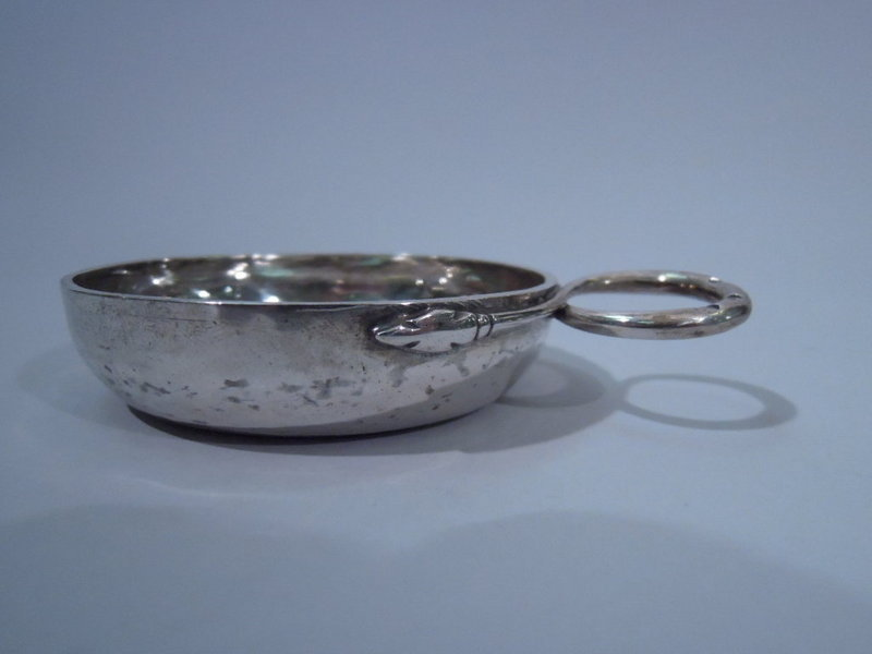 French Silver Wine Taster Tastevin - Consulat C 1800