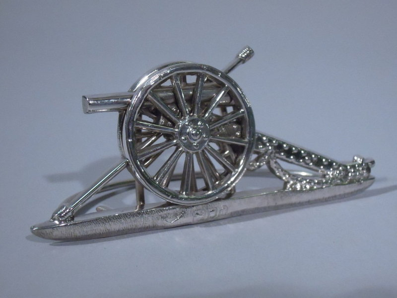 6 Victorian English London Cannon Place-Card Holders