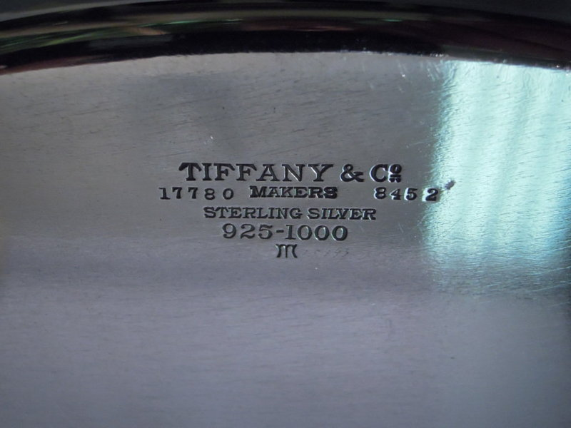 Tiffany American Sterling Silver Bread Tray C 1920