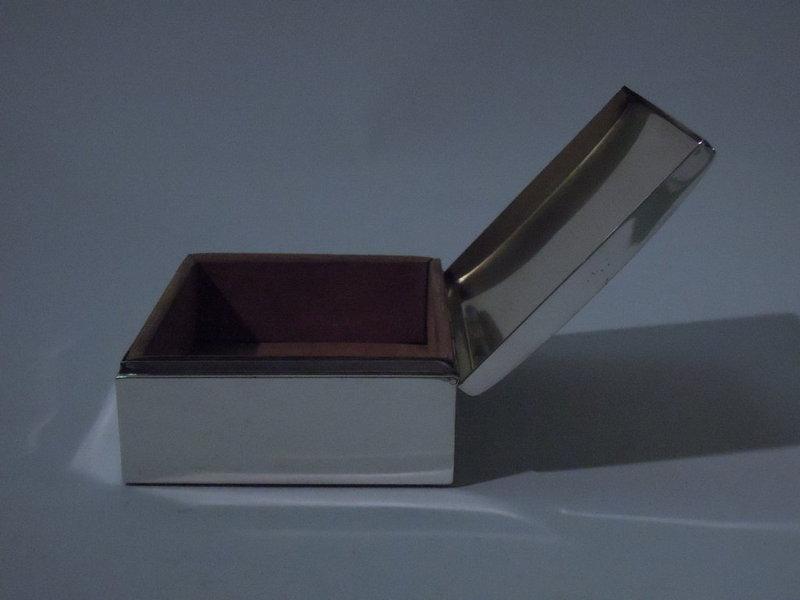 Smith & Smith Sterling Silver Desk Box C 1940