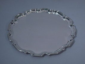 George V English Silver Pie-Crust Tray for Tiffany 1935
