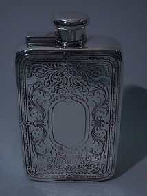 Tiffany Sterling Silver Prohibition-Era Flask C 1930