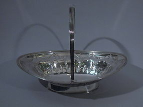 George III English London Sterling Silver Basket 1796