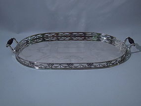 Victorian Sterling Silver Serving Tray by Elkington 1885