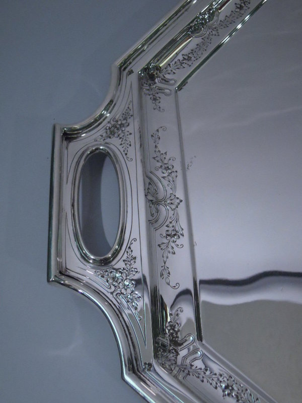 Gorham Octagonal Sterling Silver Tray C 1920