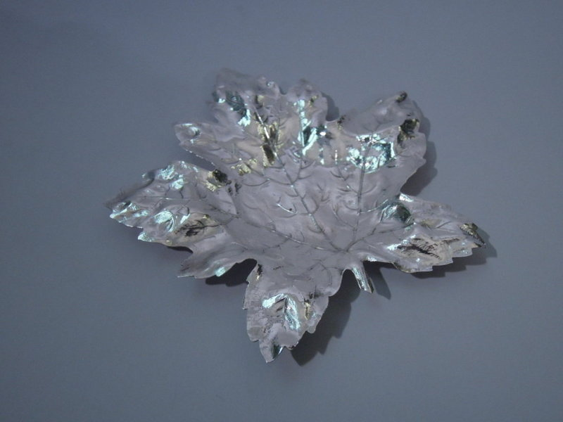 Pair Blackinton Sterling Silver Maple Leaves C 1920