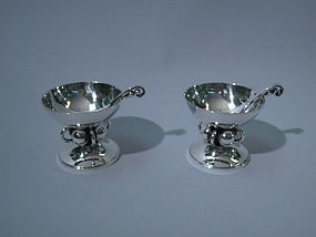 Pair of Georg Jensen-Style Open Salts by La Paglia