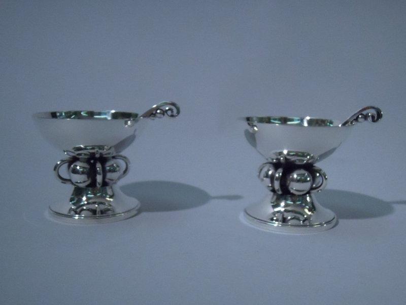 Pair of Georg Jensen-Style Open Salts by La Paglia