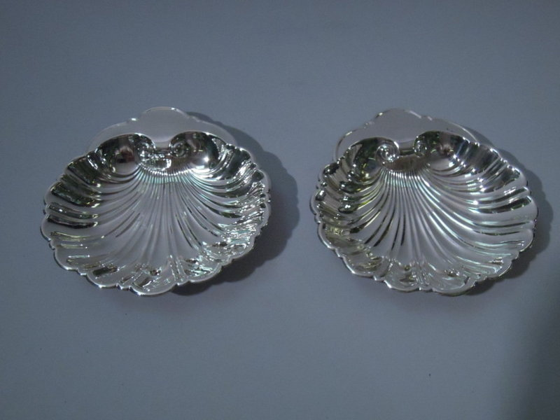 Pair of Gorham Sterling Silver Scallop Shell Bowls