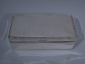 Elizabeth II English Birmingham Sterling Silver Box