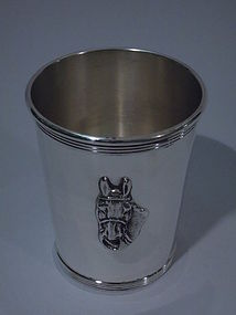 Newport Sterling Silver Mint Julep Cup with Horse