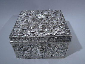 Jacobi & Jenkins Baltimore Sterling Silver Box C 1900