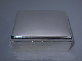 George V English Birmingham Sterling Silver Box 1916