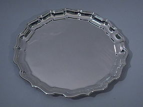 Cartier Chippendale Sterling Silver Tray C 1950