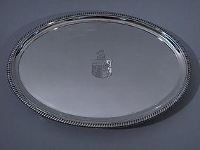 George III English London Stering Silver Salver 1806