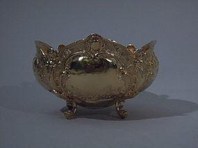 German Rococo Gilt 800 Silver Sweetmeat Bowl C 1900
