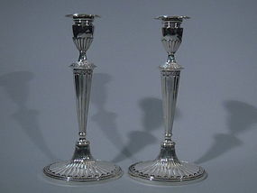Pair of Gorham Neoclassical Candlesticks 1926