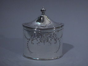 American Sterling Silver Tea Caddy C 1900