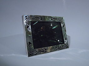 Arts & Crafts Sterling Silver Picture Frame C 1900