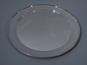 American Sterling Silver Circular Tray C 1950