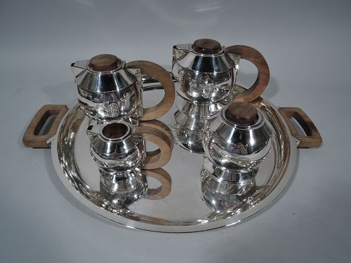 Jean Puiforcat Art Deco Tea and Coffee Set C 1930