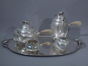 Georg Jensen Blossom Coffee and Tea Set C 1950