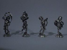 4 Buccellati Bacchus Figures Italian Sterling Silver