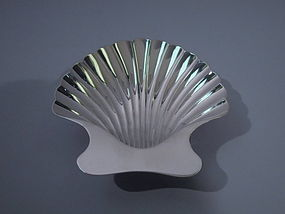 Tiffany Sterling Silver Scallop Shell Bowl C 1950