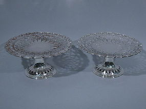 Pair of Tiffany Sterling Silver Compotes C 1907