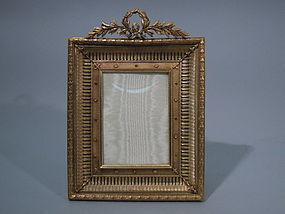French Empire Dore Bronze Picture Frame