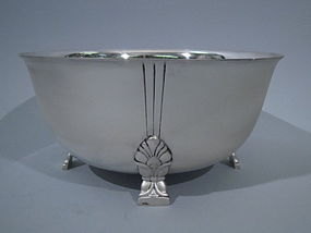Tiffany Palmette Sterling Silver Bowl C 1947