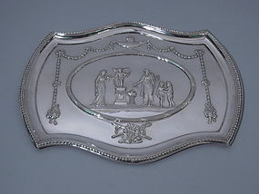 Edwardian Neoclassical Sterling Silver Tray 1905