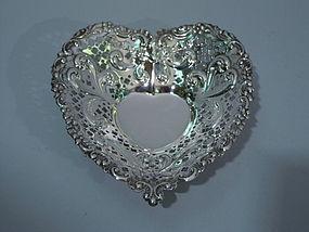 Gorham Sterling Silver Heart Bowl