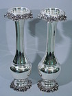 Pair of Large Gorham Sterling Silver Vases 1873