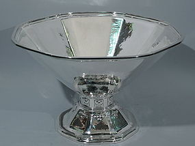 Tiffany Sterling Silver Centerpiece Punch Bowl with Special Hand Work