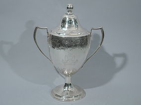 Georgian Irish Sterling Silver Covered Trophy Cup