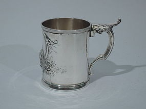 Wood & Hughes New York Coin Silver Mug C 1860