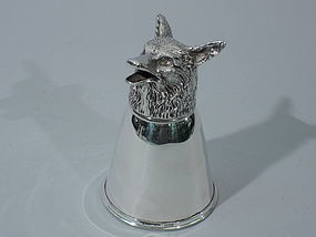 Gucci Sterling Silver Box with Fox Head Cover